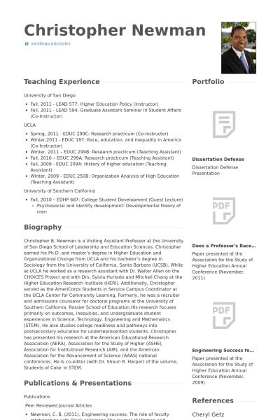 Research Analyst Resume samples - VisualCV resume samples database