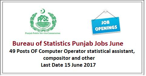 Bureau of Statistics Punjab Jobs June 2017 | Jobify Pakistan