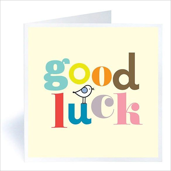 Good Luck Card Template – 10+ Free Printable Word, PDF, PSD, EPS ...