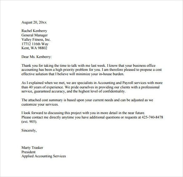 Business Proposal Letter Template | The Best Letter Sample