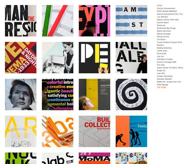 MoMA — graphic design department - Cargo - Favorite Sites
