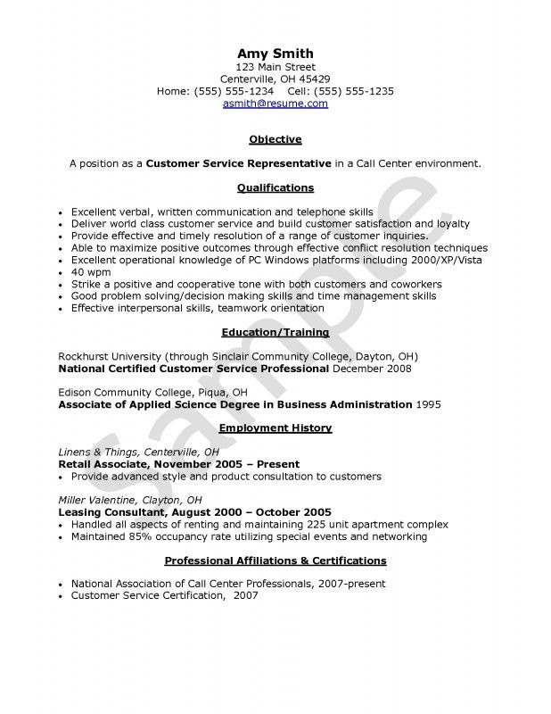 Call Center Customer Service Resume | Samples Of Resumes