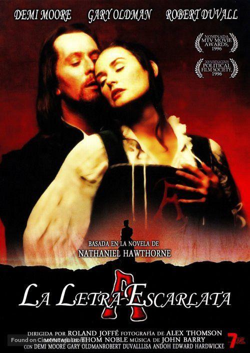 The Scarlet Letter Spanish dvd cover