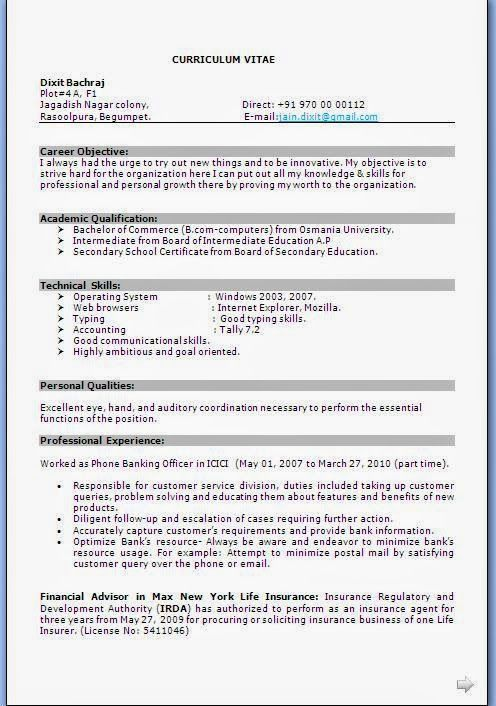 Banking Resume Format. Banking Resume Objective We Provide As ..