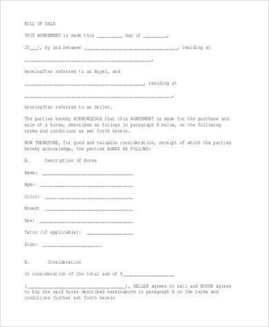 Bill of Sale Form Sample - 11+ Free Documents in Word, PDF