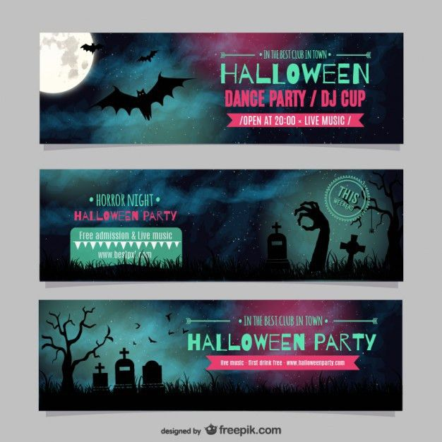Halloween Banner Vectors, Photos and PSD files | Free Download