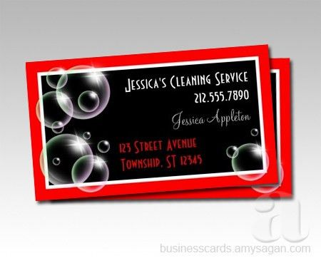 Bubbles Cleaning Service Business Cards