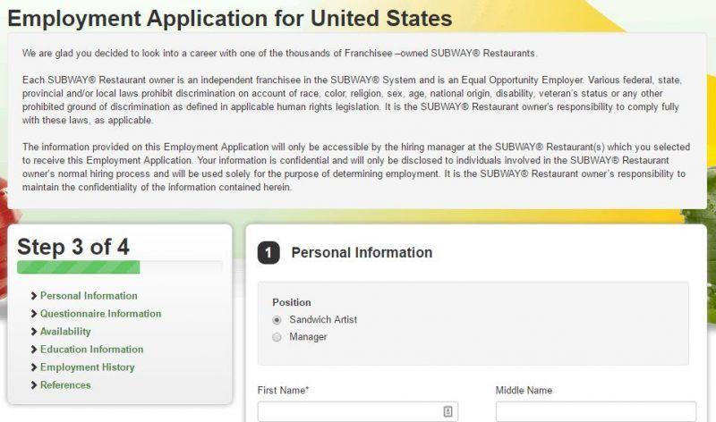 Subway Job Application and Employment Resources | Job Application ...