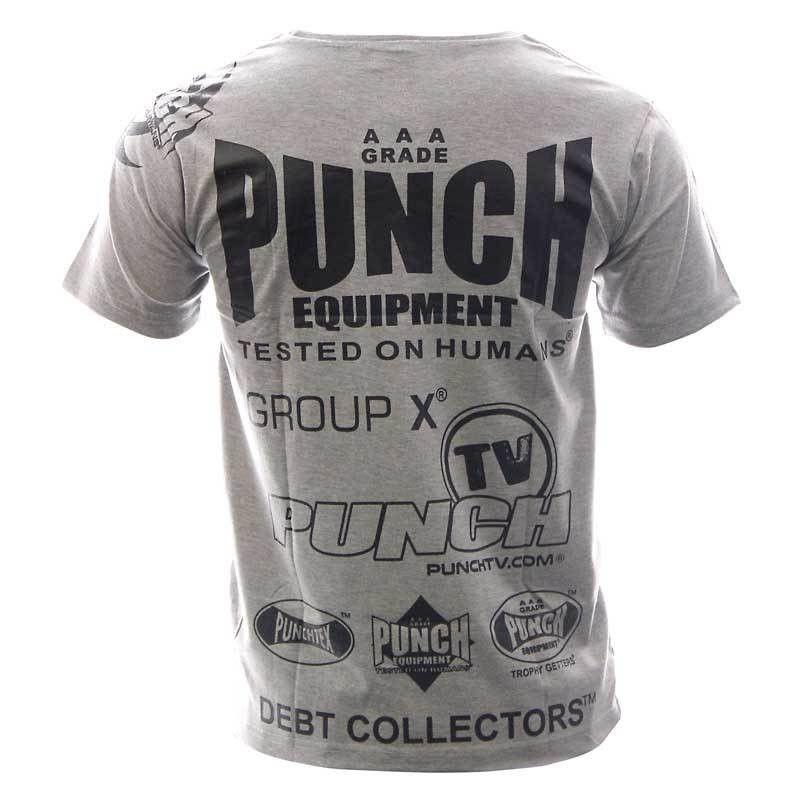 Mens Punch Sponsorship T-Shirt Grey - Punch® Equipment