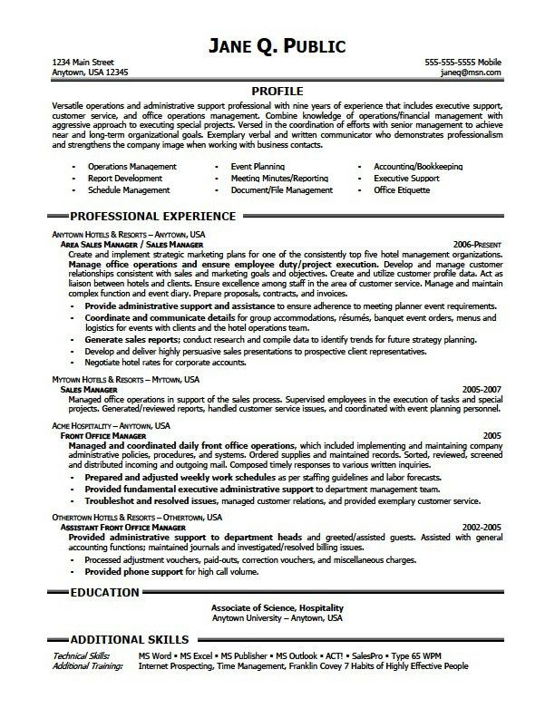 Sample Administrative Assistant Resume. Click Here To Download ...