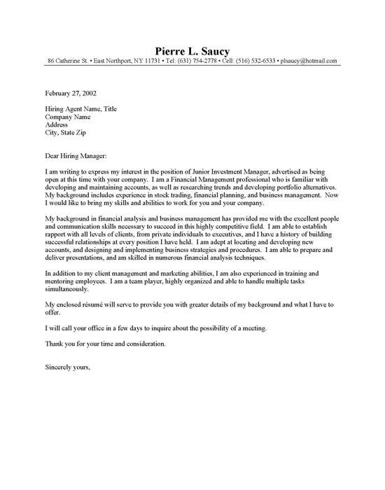 Entry level human services cover letter Kirby s Carpentry Barrie ...