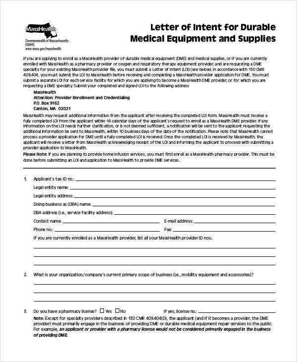 Letter of Intent - 9+ Free Word, PDF Documents Download   Free ...