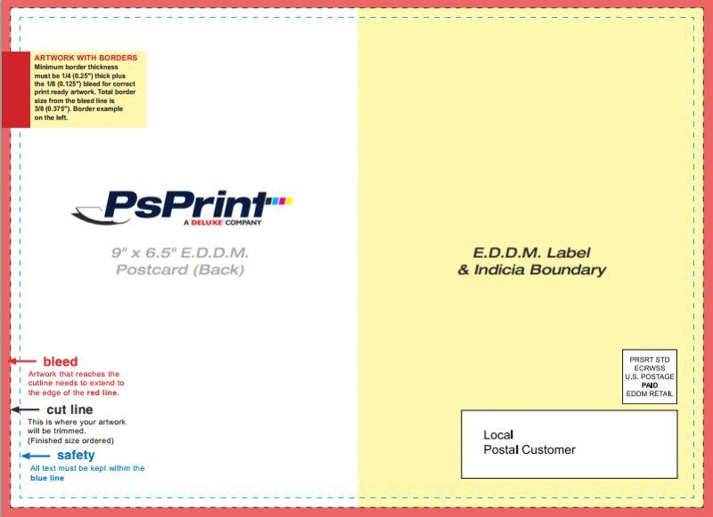 Eddm Postcard Template | Template Design
