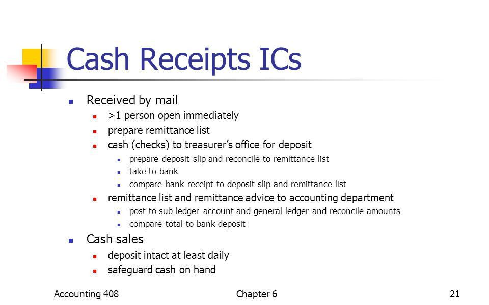 Chapter 6 Audit of Cash Accounting 4081Chapter ppt download