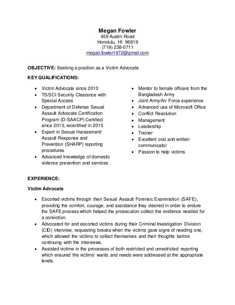 targeted resume format