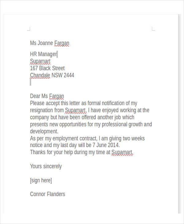 30+ Free Resignation Letters   Free & Premium Templates