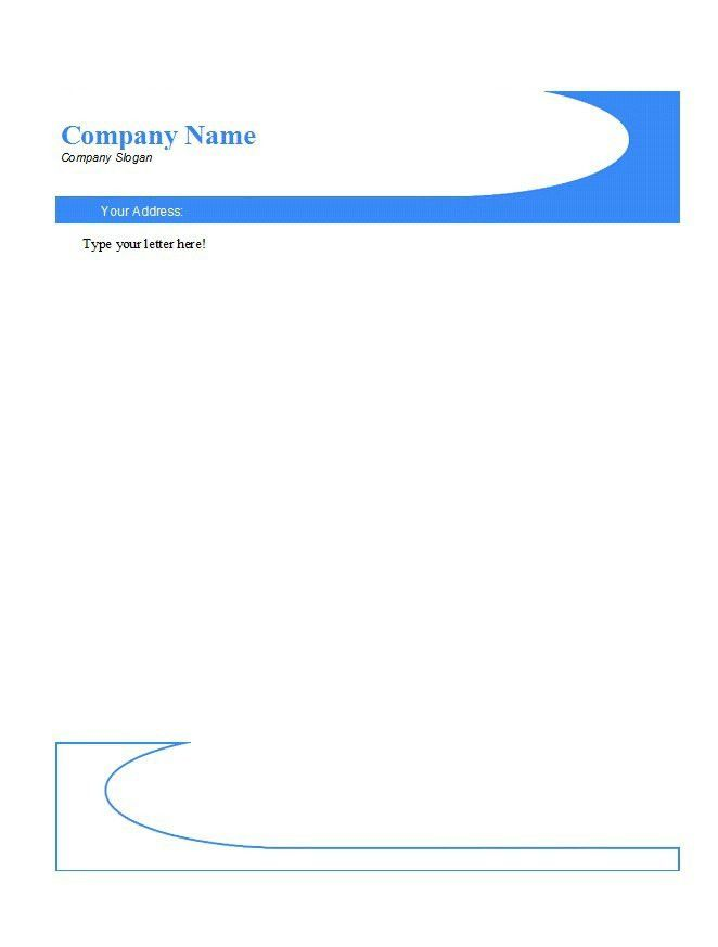 sample letterhead templates