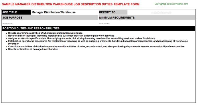 Warehouse Accountant Job Descriptions