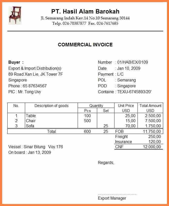 9+ commercial invoice adalah | Invoice Template