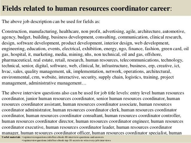 Human Resource Job Description. Jasmine Davey Job Title: Human .