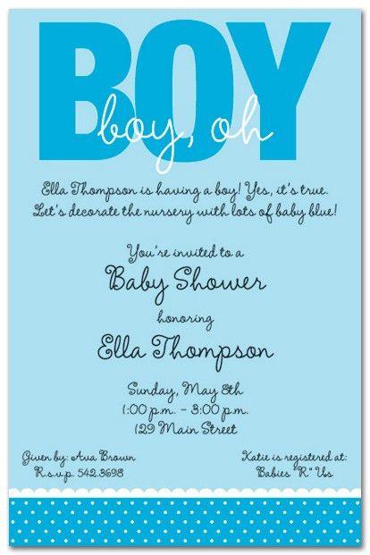 Baby Shower Invite Wording Boy - marialonghi.Com