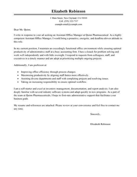 administrative assistant cover letter examples administration for ...