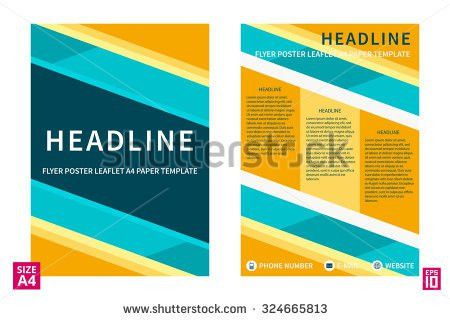 Business Technology Brochure Design Template Vector Stock Vector ...