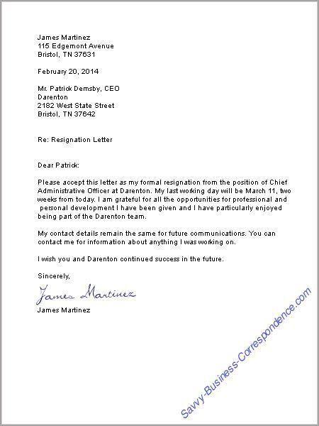 job resignation letter resignation letter formats seangarrette ...