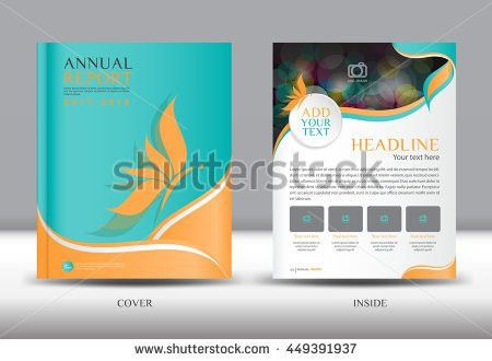 Green Cover Annual Report Template Vector Stock Vector 412623013 ...
