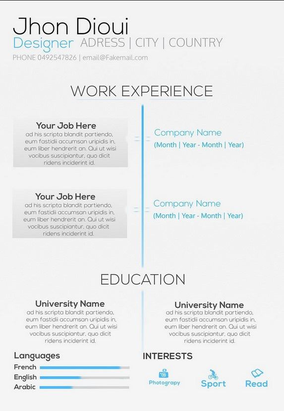 Describing Yourself In A Resume | Free Resume Templates