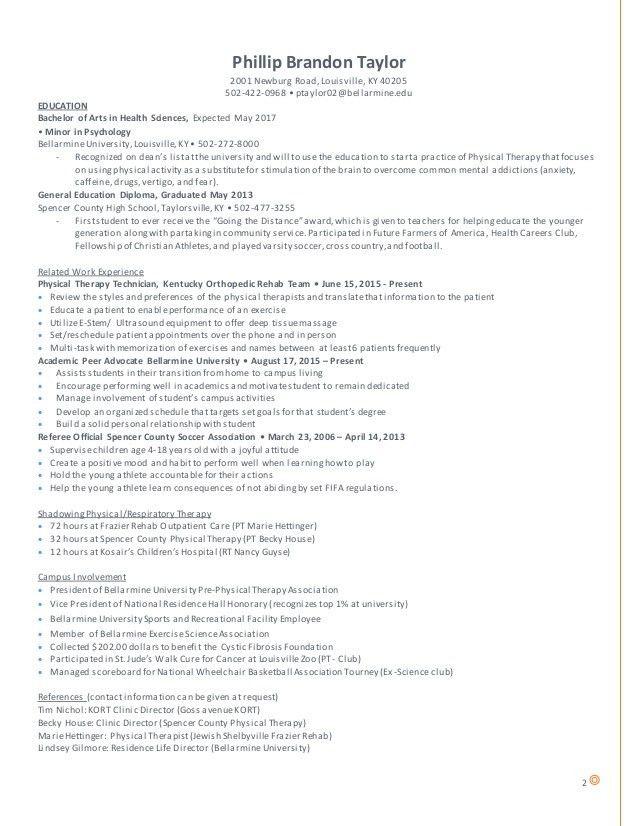 Resume Pre-PT LinkedIn (revised)