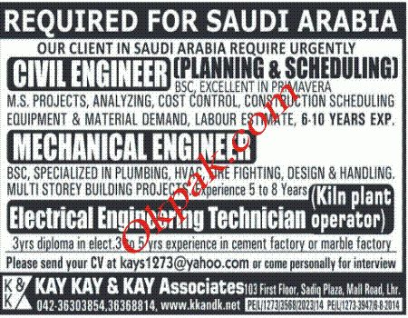 Civil Engineer, Mechanical Engineer Jobs in Saudi Arabia | Jobs In ...