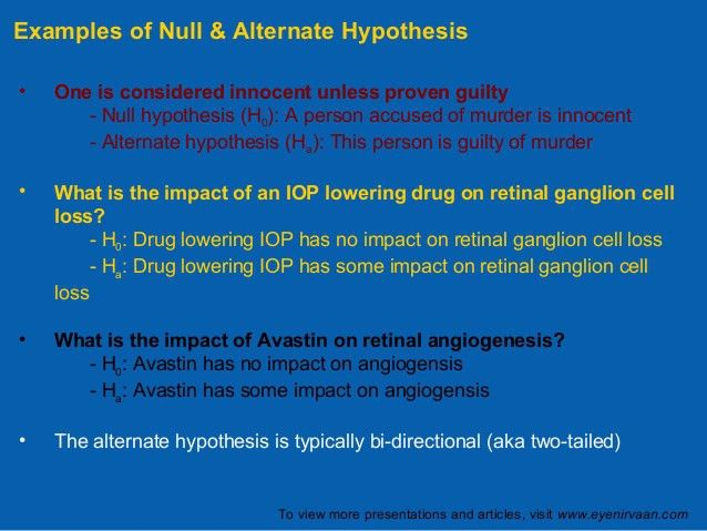 Hypothesis testing and p-value, www.eyenirvaan.com