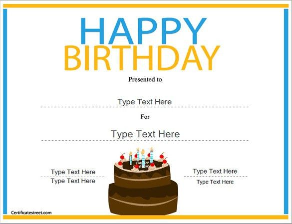 21+ Birthday Certificate Templates - Free Sample, Example, Format ...