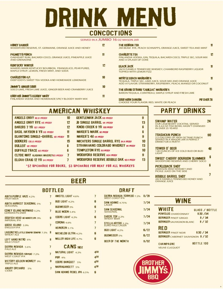 Sample Beverage Menu Template Free Download