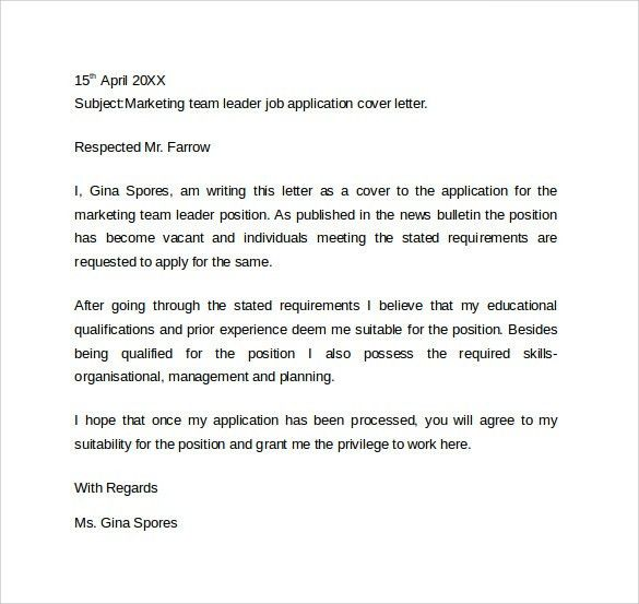 sample resume cover letter example 11 download free documents - Sample Resume For Leadership Position