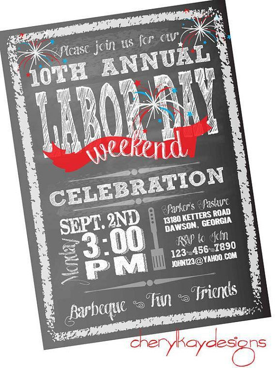 24 best Labor Day Invitations images on Pinterest | Labor day, Bbq ...
