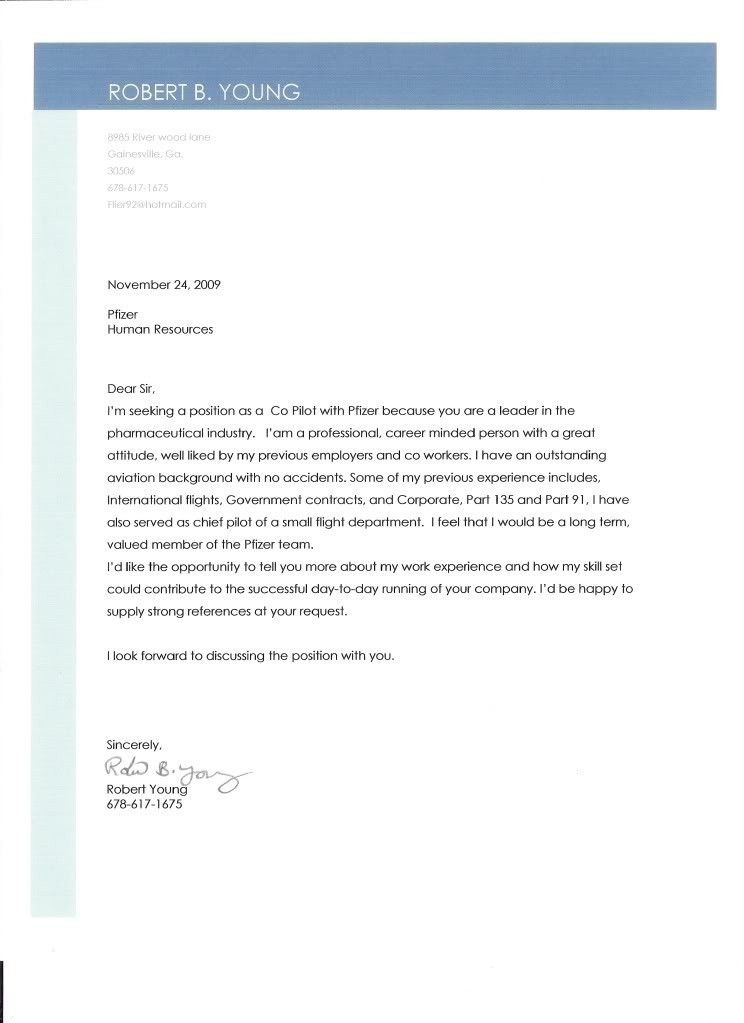 Cover Letter Example Nursing Careerperfect Cover Letter Format For ...