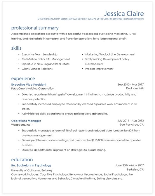 Over 1,000 Resume Formats to Get You the Job! | MyPerfectResume