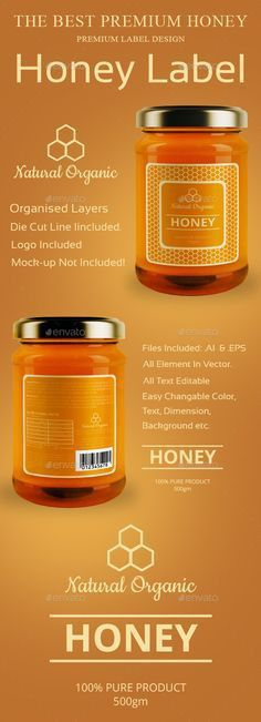 Organic Honey Labels Template http://www.dlayouts.com/template/949 ...
