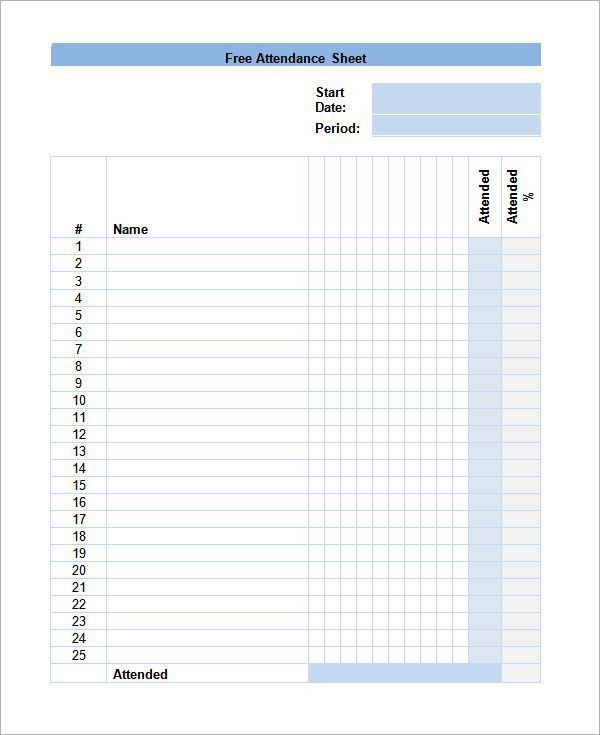 Training Sign In Sheet Example. Discrete Trial Data Sheet Template ...