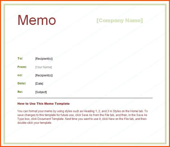 7+ interoffice memo template | Survey Template Words