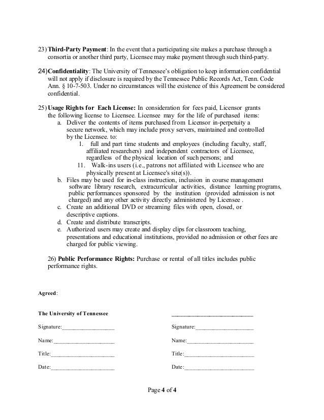 Master Agreement Template - Streaming Media