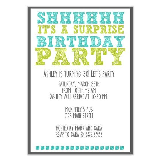 Fancy Surprise Birthday Party Invitation Template 3 Exactly Grand ...