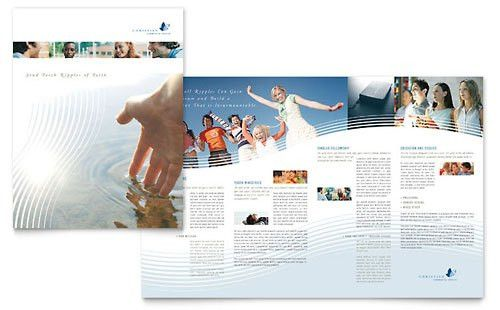 Microsoft Publisher Brochure Template; like the white text box ...