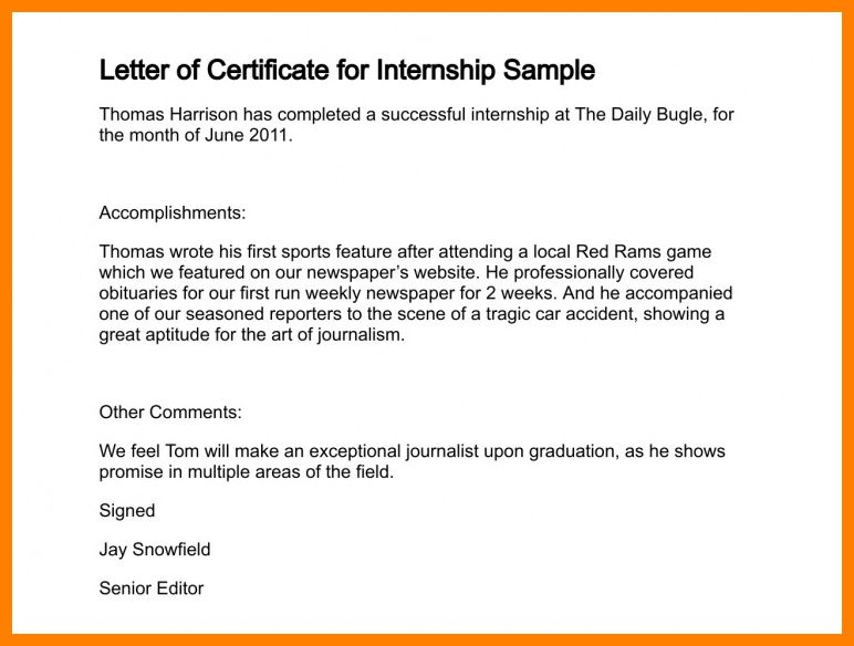 Sample letter of completion completion letter format project 5 letter of completion sample science resume yadclub Image collections