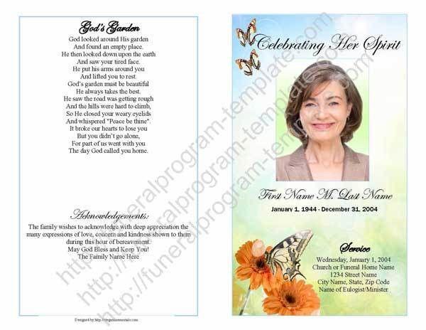 Sample Funeral Program | Sample Bifold Program Template