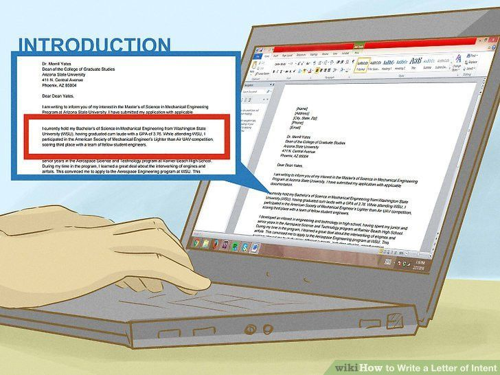 How to Write a Letter of Intent (with Sample Letters)
