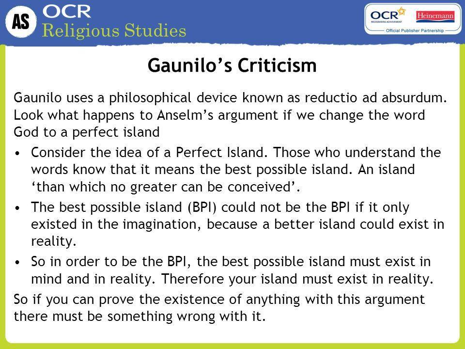 The Ontological Argument - ppt video online download