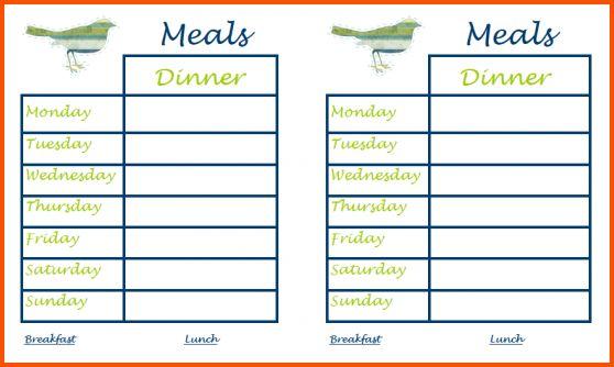 11+ dinner menu template | Survey Template Words